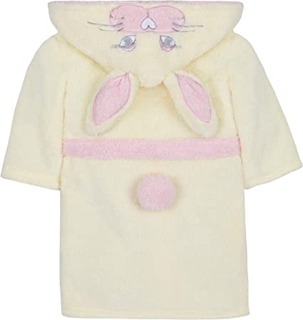 4Kidz Girls Snuggle Fleece Bunny Dressing Gown with Hood