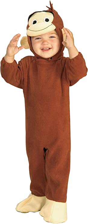 Curious George Monkey Costume, 6-12 Months