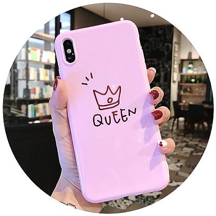 Amazon.com: Funda para iPhone XR/iPhone XS Max King Queen Best