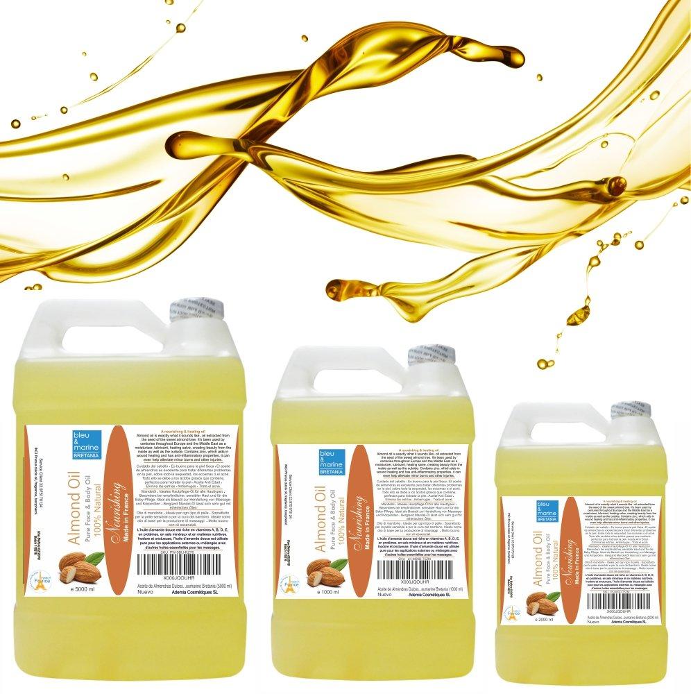 Aceite de Masaje Antiedad Nutritivo Reparator de Almendras Dulces 200 ml ○ El mejor Hidratante Natural ○ Aceite Portador Anticelulitico Antiestrias ...
