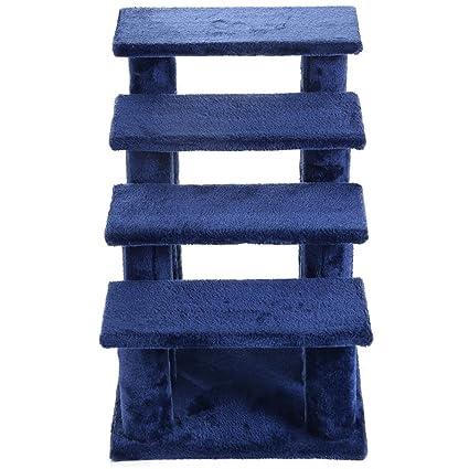 21u0027u0027 Pet Ramp Cat 4 Step Stairway Perch Scratcher Stairs Dog Ladder Blue