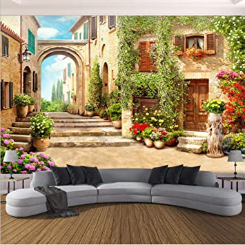 Amazon Com Xbwy 3d Wallpaper European Town Street Background Wall Mural Living Room Bedroom Home Decor Wall Paper For Walls 3 D 400x280cm Furniture Decor
