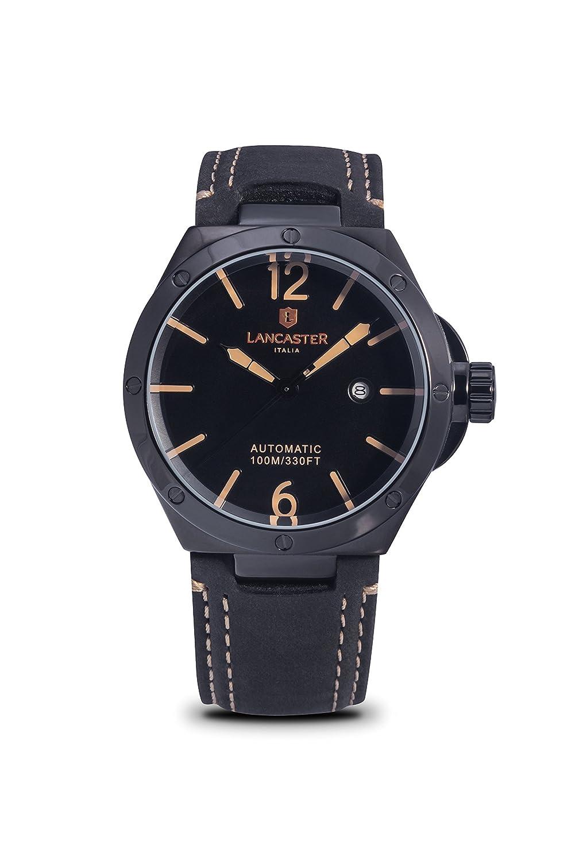 bed537b165b9 Lancaster Space X Automatic OLA0670L BK NR NR reloj para hombre   Amazon.com.mx  Relojes