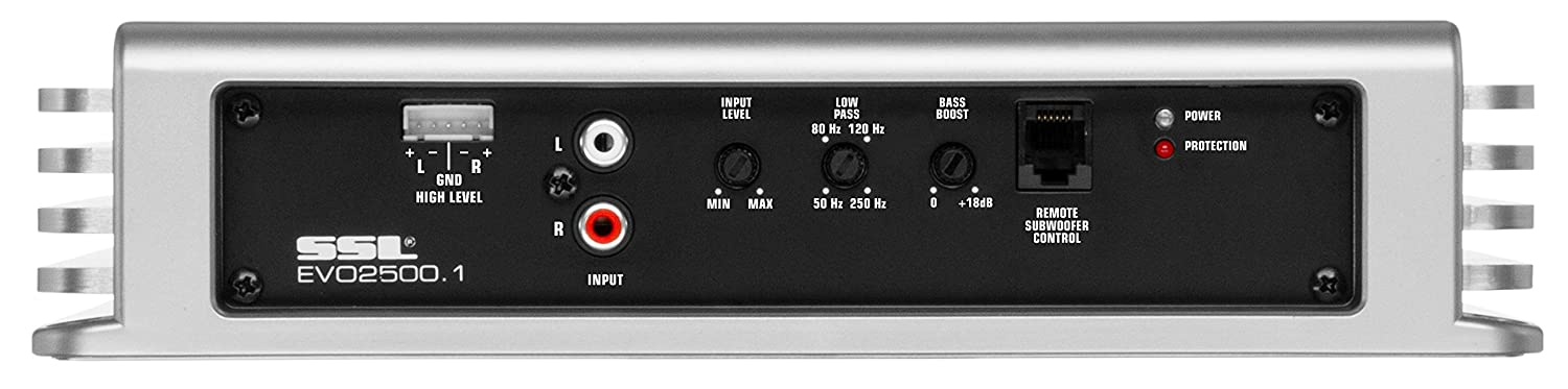 Monoblock Sound Storm EVO2500.1 EVO 2500 Watt 2 Ohm Stable Class A//B MOSFET Car Amplifier with Remote Subwoofer Control