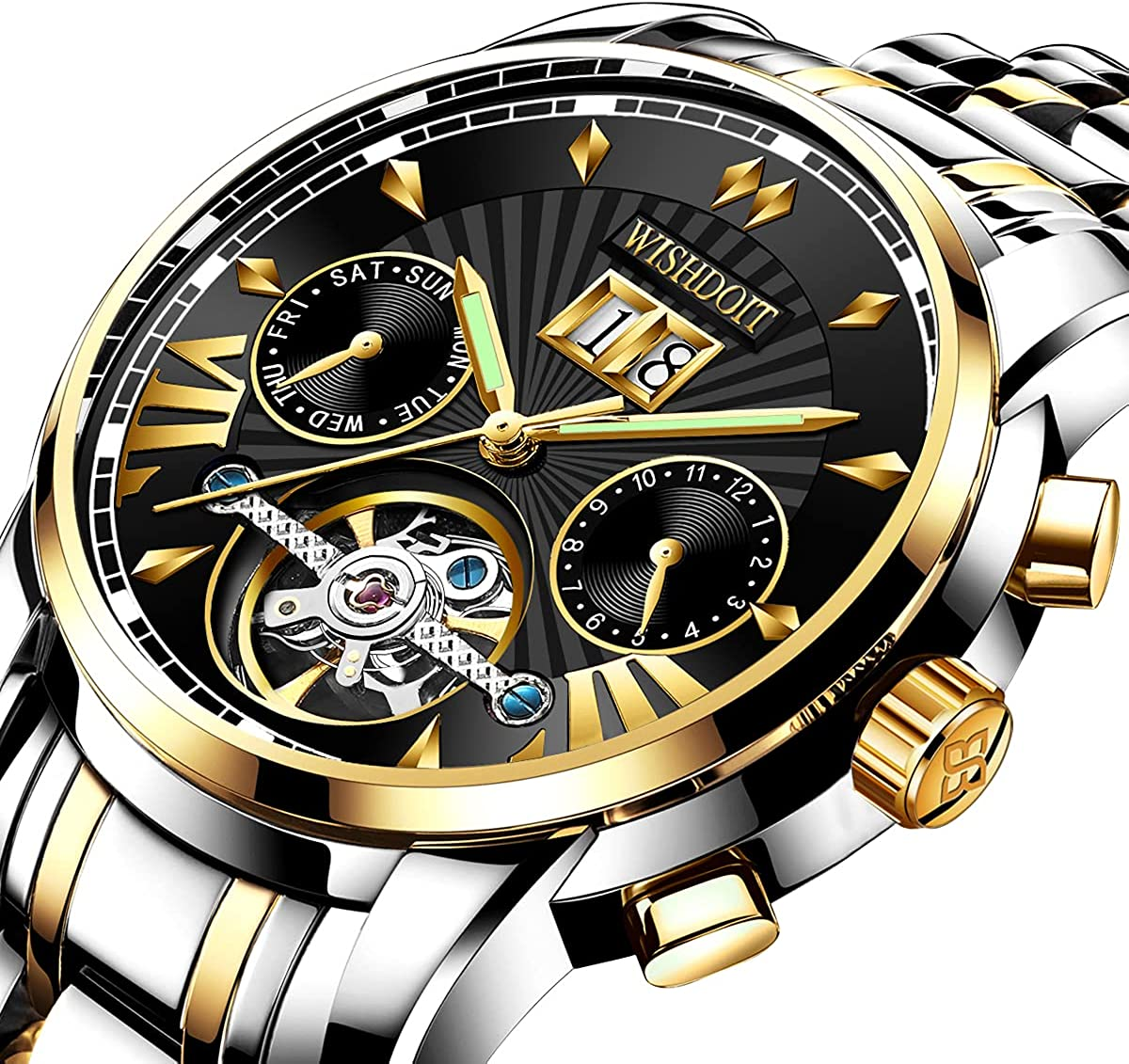 Watches for Men Automatic Stain Max 74% OFF Multifunctional Watch Mechanical Ranking TOP3