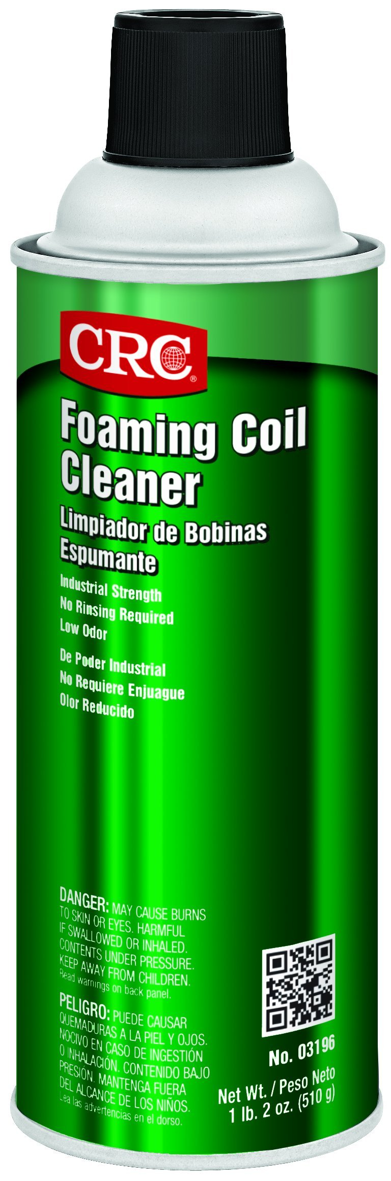 CRC Foaming Coil Cleaner, 18 oz Aerosol Can, Clear/Yellow by CRC