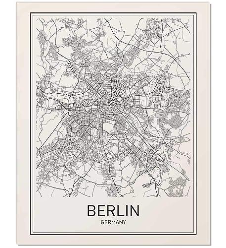 Germany Map Berlin.Amazon Com Berlin Poster Berlin Map Berlin Art Map Of Berlin