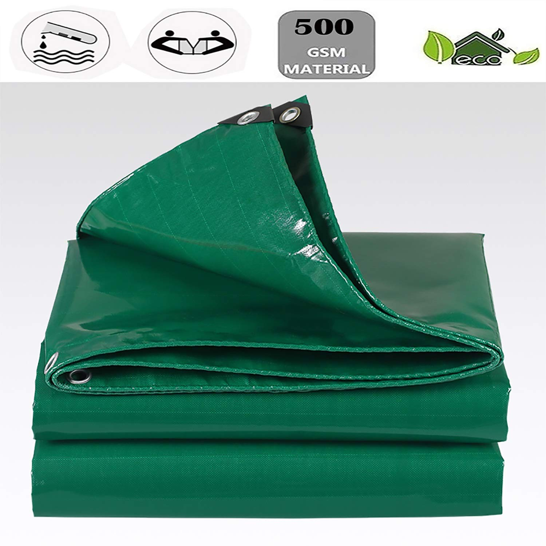 YLIAN ターポリン 防雨布ターポリン日焼け止めターポリン屋外サンシェード0.45mm厚、500g / M2屋外ガーデン家具キャンプガーデニング (Color : Dark 緑, Size : 32.8x49.2ft)