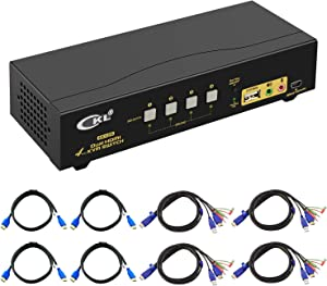 CKL HDMI KVM Switch 4 Port Dual Monitor Extended Display (CKL-942HUA)
