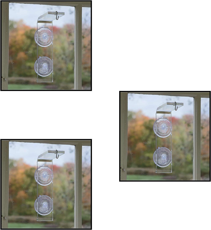 Window Garden Veg Dangler Suction Cup Window Hanger – Bird Feeder Holder, Indoor Plant Hanger, Wind Chimes, Ornaments, Flower and Herb Pots, Terrarium, Air Plants, Suncatchers (3 Pack)