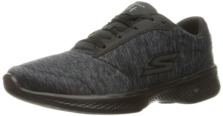 Skechers Performance Women's Go Walk 4 Lace-up Walking Shoe B01IIZG9L2 5 B(M) US|Black/Gray Heather
