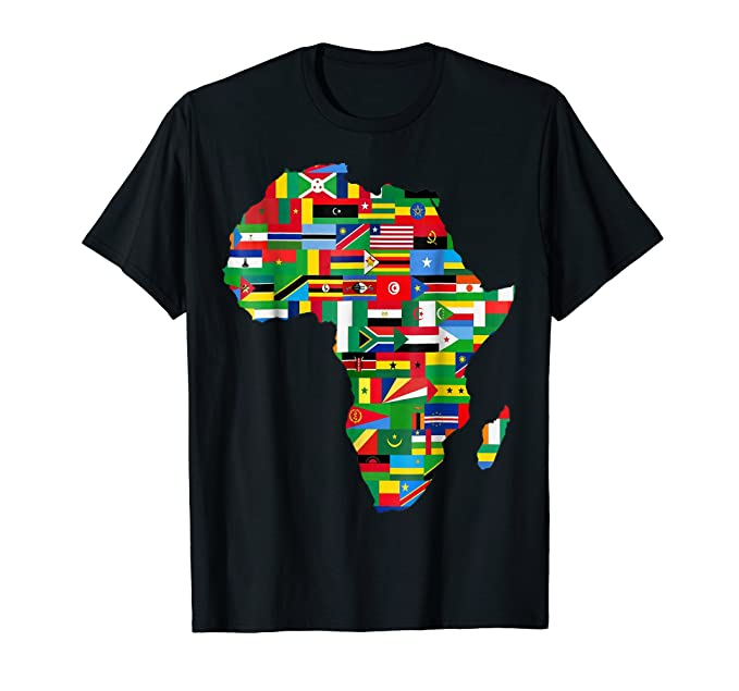 amazon com africa t shirt proud african country flags continent