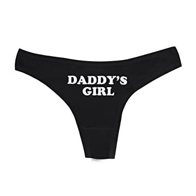 ab47764ba Dong King Lady Sexy Thong Panties YES DADDY Letter Print Funny Women Cotton T  Underwear White ...
