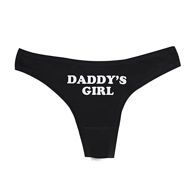 05e8d703f3c DongKing Sexy Thong Women Underwear Lingerie Knickers G String Daddy s Girl  Print (XL