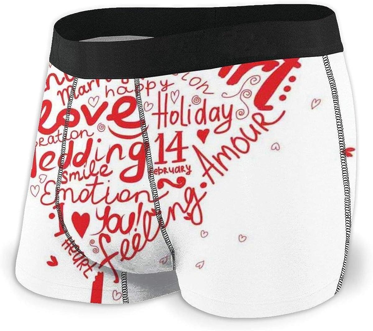 Web--ster Calzoncillos bóxer para Hombre Ropa Interior, Gotas de Lluvia en Forma de corazón en Cristal Transparente Cristal de la Ventana Amor Puro San Valentín Talla L