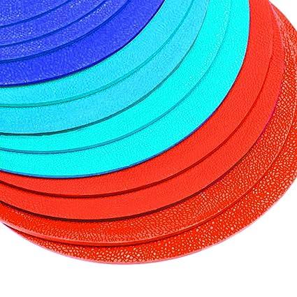 Kosma Set de 12 marcadores de disco redondos antideslizantes, de 8 ...