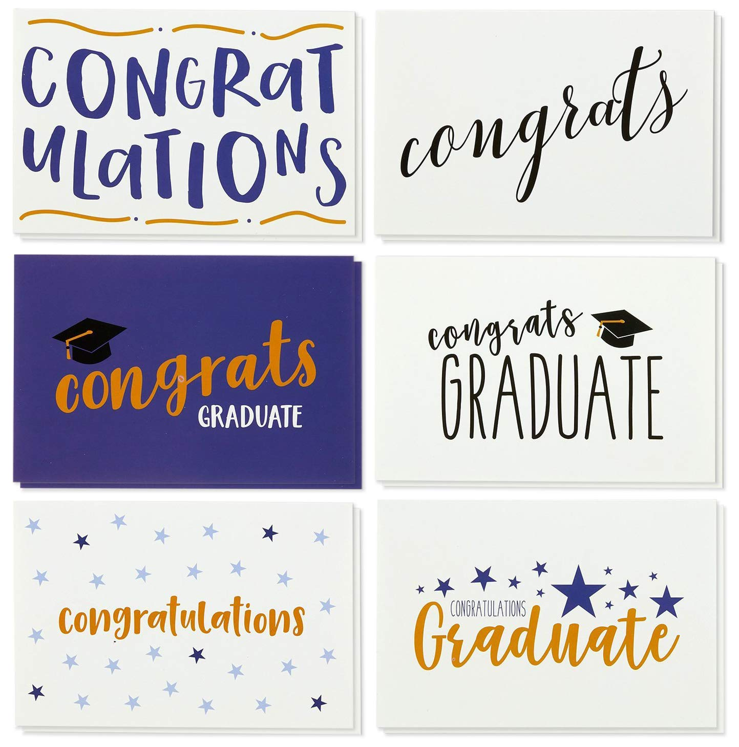 Amazon 36 Pack Graduation Cards Blank Greeting Cards