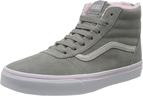 Vans Ward Hi Zip Weatherized Suede, Baskets Hautes Fille