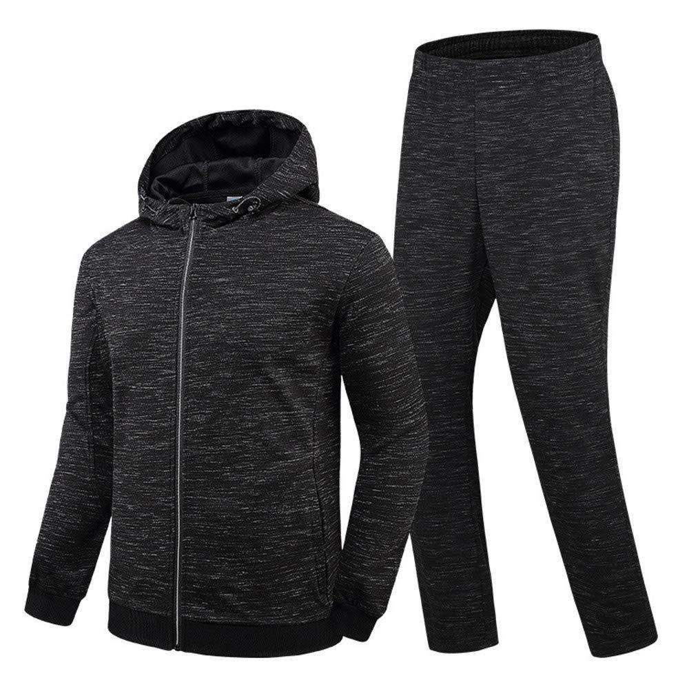 Chengzuoqing  Herren Gym Zip Hoodie Running Fitness Kapuzenpullover Reißverschluss (Farbe   schwarz, Größe   XL)