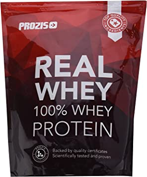 Prozis Natural Real Whey Protein, Proteina en polvo, enriquecido con BCAA para Crecimiento Muscular y Recuperación, óptimo para culturismo, Fresa - ...
