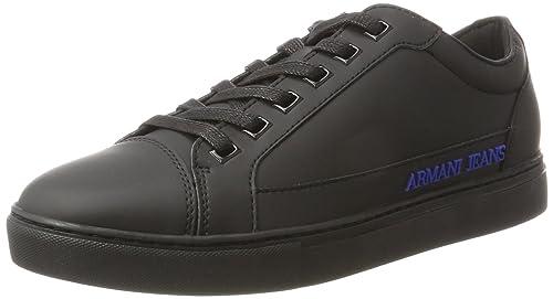 Mens Sneaker Low Cut Trainers, Black Armani Jeans