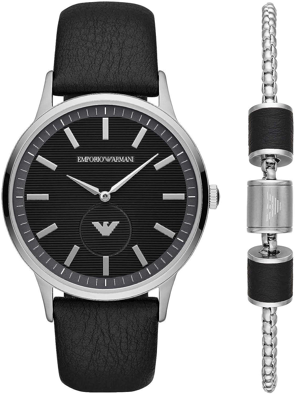 Emporio Armani Reloj Analógico para Hombre de Cuarzo AR80039: Amazon.es: Relojes