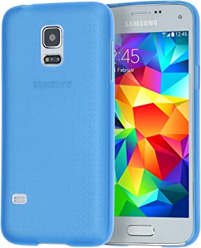 doupi UltraSlim Funda para Samsung Galaxy S5 Mini, Finamente Estera Ligero Estuche Protección, Azul: Amazon.es: Electrónica