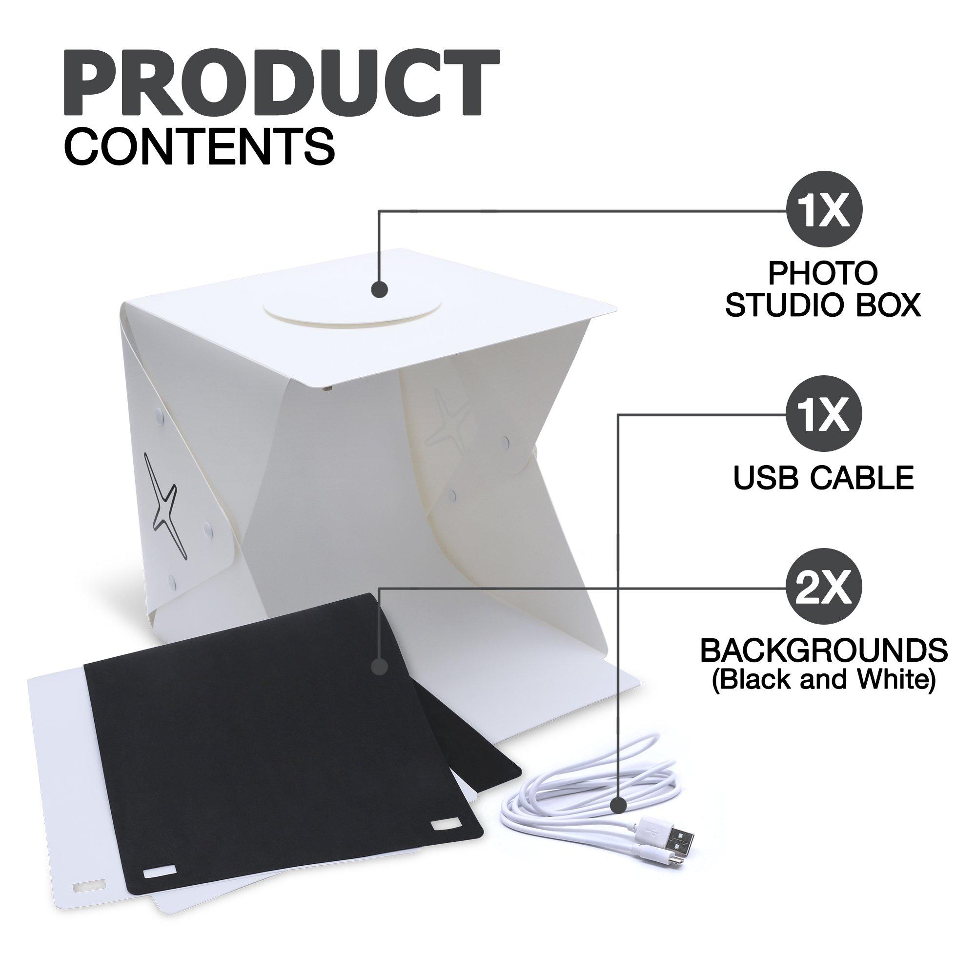 Capture Portable Photo Studio Box: LED Light Box Photo Tent- Large by Capture (Image #3)