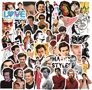 ARPA 50Pcs Singer Idol Harry Styles Stickers for Laptops Books Cars Motorcycles Skateboards Bicycles Suitcases Skis Luggage Cup Hydro Flasks etc DLQ