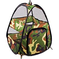 Cat Tent, Botitu Portable Soft Pet Carriers for Cats Tent Bed, with Camouflage Style Foldable Outdoor Cat Cages