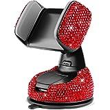 eing Suporte de celular de cristal para carro com mais uma base de saída de ar, suporte universal universal para celular na s