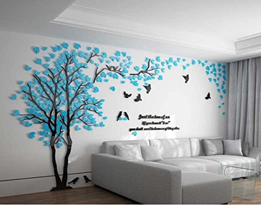 Tree Wall Decal Sticker Art Birds Branch Any Colour combination. Hearts