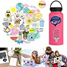 Water Bottle Stickers Pack Trendy,Womdee 35-Pack Cute,Waterproof,Aesthetic,Trendy Stickers for Teens,Girls Perfect for Waterbottle,Laptop,Phone,Travel,Guitar,Bike - Best Gift for Children Teen Adult