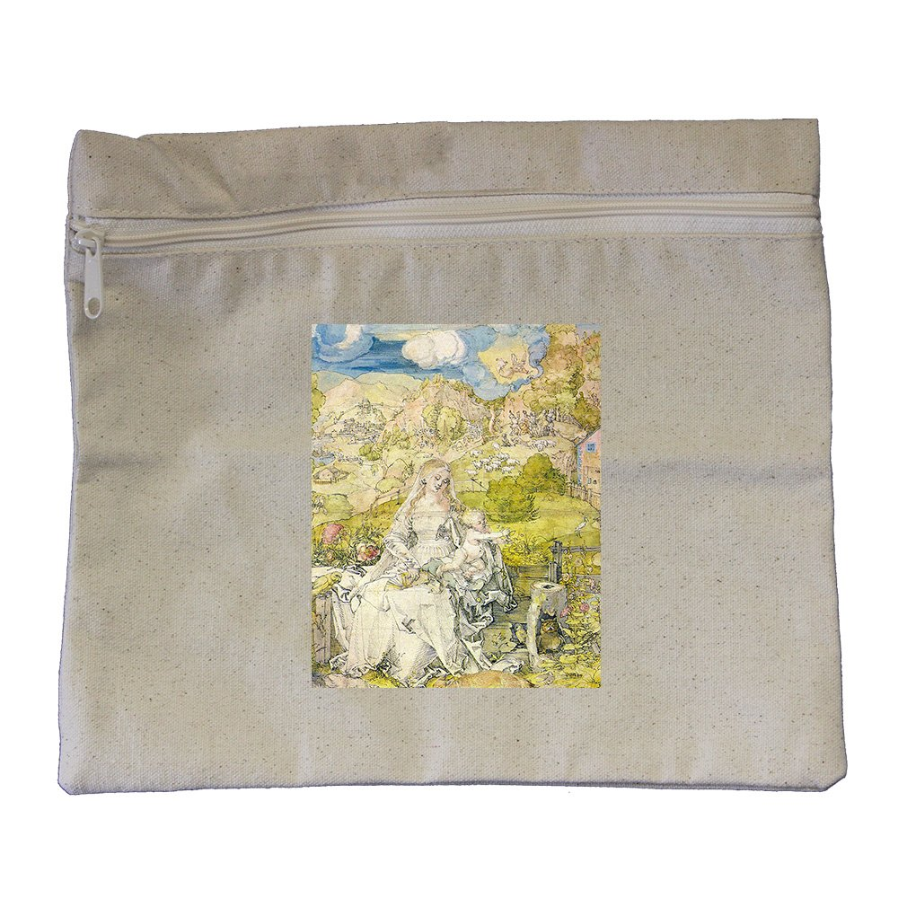 Madonna With The Many Animals (Durer) Canvas Zippered Pouch Makeup Bag