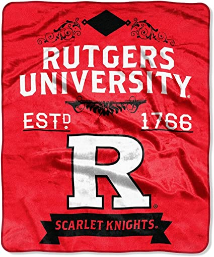 50 x 60 Officially Licensed NCAA Label Plush Raschel Throw Blanket Multi Color