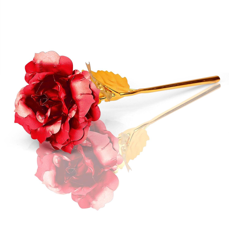 Augustcoc 24k Gold Foil Golden Rose Foil Flowers 96 Inches