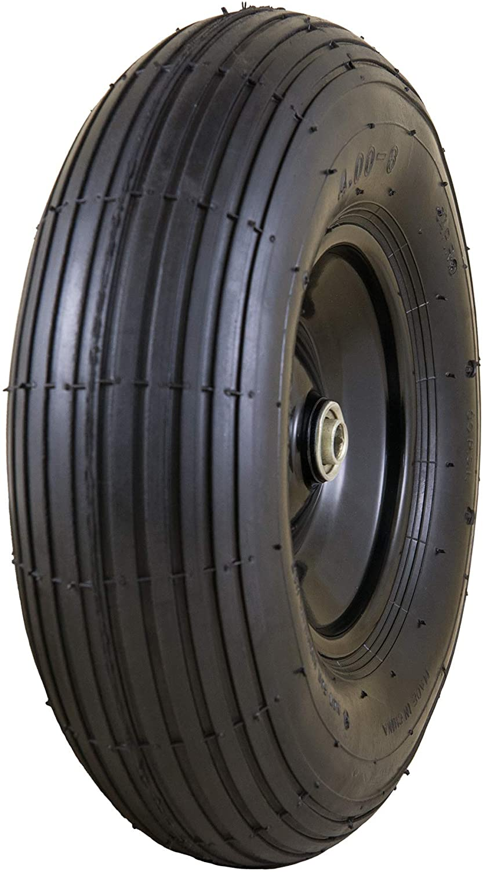 "Marathon Easy Fit 4.00-6 Pneumatic Wheel Assembly for Residential Wheelbarrow, black, 13"" - 20296-M"