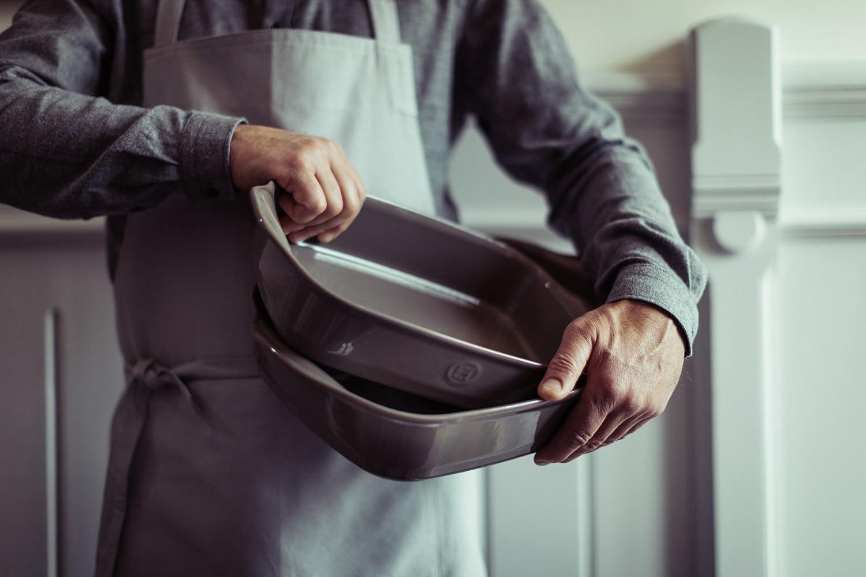 14.2 x 9.1 Emile Henry 979652 France Ovenware Ultime Rectangular Baking Dish Blue