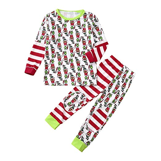 adcb2d2a3fd Amazon.com  TrimakeShop Family Matching Xmas Pajamas Set Women Kid Dad  Adult PJs Fun Sleepwear Nightwear  Clothing