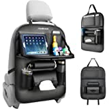 Redlemon Organizador para Auto de Asiento Trasero de Piel Sintética con 7 Compartimentos, Protección de Respaldo, Espacio par