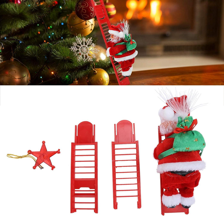 Ladieshow eléctrico Santa Claus Escalera de Escalada árbol de ...