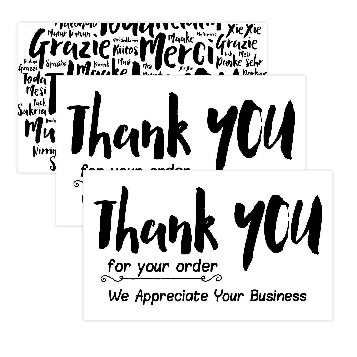 50 Thank You for Your Order Cards - Customer Thank You Cards-Thank You Package Insert.