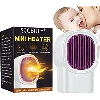 Calefactor Eléctrico,Calefactor Portátil Eléctrico,Calentador,Mini Calentador de Ventilador,Ideal para el hogar, la…