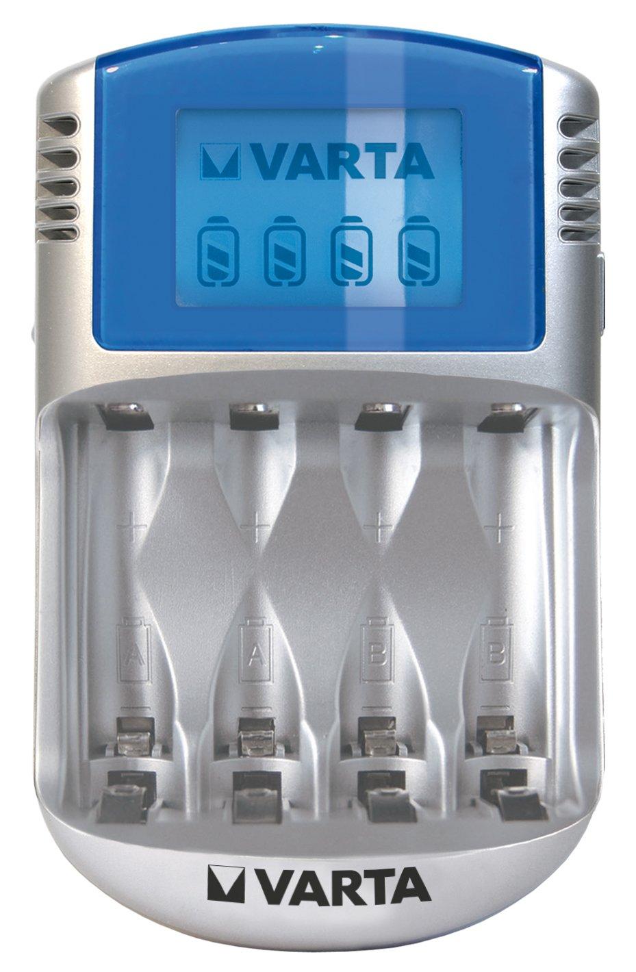 Varta LCD Charger Cargador con cable USB y adaptador de 12 V