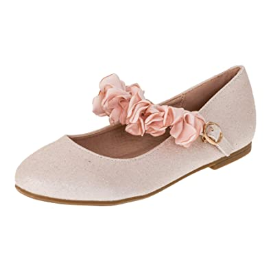 e9fb3e08a10ca4 Doremi Edle Festliche Kinder Mädchen Prinzessinnen Schuhe Ballerinas mit  Schnalle M512rs Rosa 25 EU