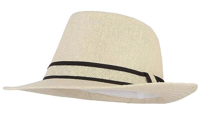 Sombrero De Jazz Retro para Hombre Sombrero De Paja Verano Sombrero De Sombrero  Especial Estilo De 4d408e4d9d71