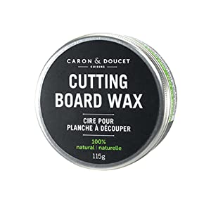 Caron & Doucet - Coconut Cutting Board Wax & Butcher Block Wax Conditioner & Finish - 100% Plant Based, Refined Coconut Oil & Natural Waxes (Rice Bran), Does Not Contain Mineral Oil (Petroleum).