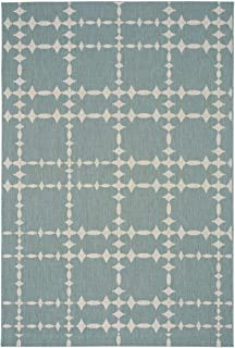 "product image for Elsinore-Tower Court Blue 7' 10"" x 11' Rectangle Machine Woven Rug"