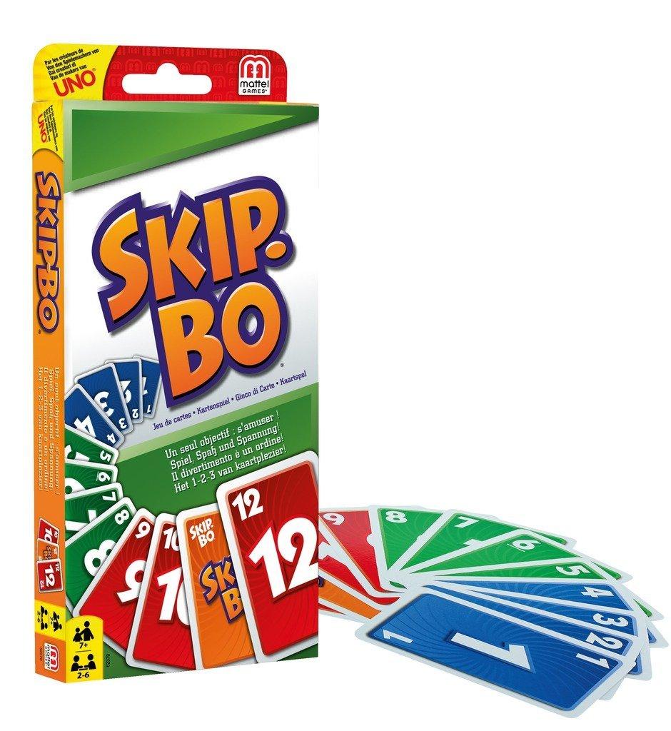 Mattel Games - Skip-Bo, Juego de Cartas (52370)
