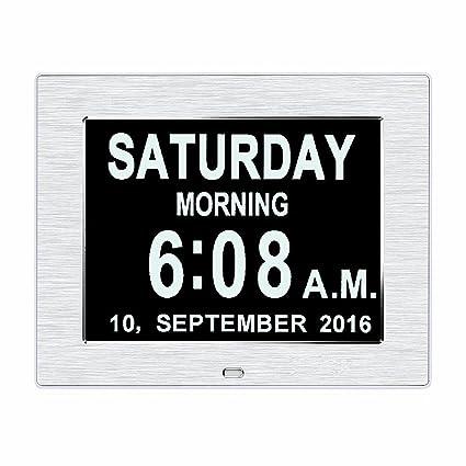 La pérdida de memoria original Digital Calendario DíA reloj con caracteres día y mes. 200